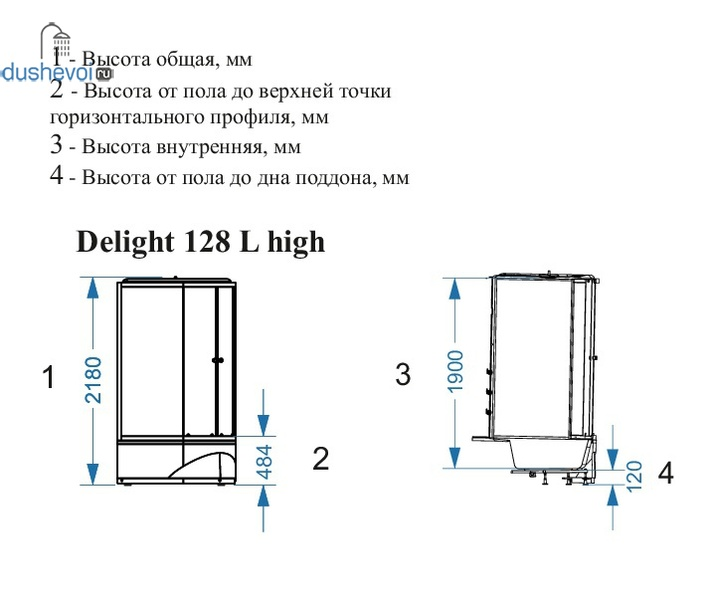 Domani Spa Delight 128 high черная